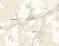 Topographic map for the Toponymic encyclopedia