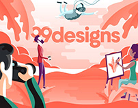 Animated Facebook Cover for 99designs