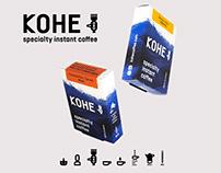 Branding for artisan instant coffee KOHE