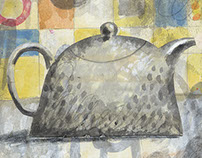 Teapot with Clouds