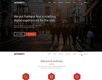 Authority Free One Page PSD Theme