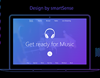 Music: Web page design
