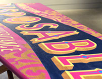 Hand-painted Ironing Board