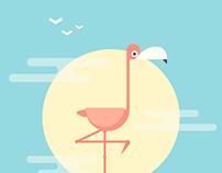 Flat Flamingo