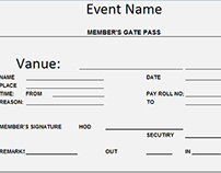 Get Free Form Entry Gate Pass