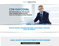Landing Pages versão Desktop e mobile Banco Daycoval