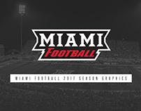 Miami Football Season Graphics and Photos - 2017