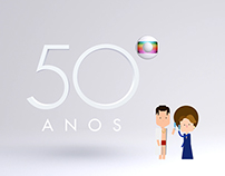 Globo 50 years - Flat Design in Soap Opera Characters