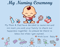 Baby Naming Ceremony Card