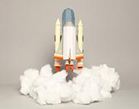 Space shuttle & Catamaran