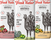 Fresh Victor Packaging Illustrations by Steven Noble