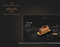 Arion Cake - Landing Page Design