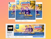 Flyer + Capa da Social dos Amigos.