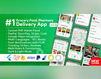 E commerce, Store, Delivery Mobile App with Admin Panel