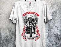 Biker T- Shirt Design