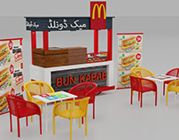Macdonald`s Bun kabab (thela ) cart freelance work