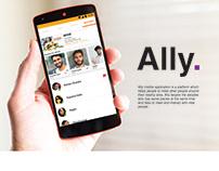 Ally mobile application (UX & UI Design )