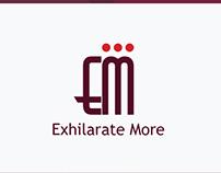 Exhilarate More logo design and brand name
