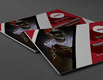 Football Coach Business Card Template