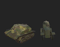 3d WWII Armored Vechicles