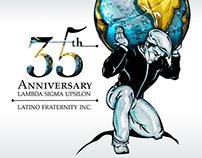 """LSU"" 35th Anniversary Logo Brand & Emblem"