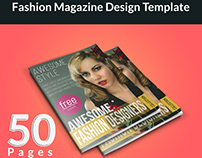 Fashion Magazine Desgn Template