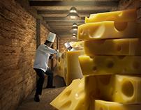 Camión de quesos para Alpina