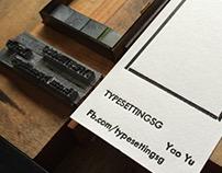 Letterpress Typeset Namecard V9