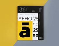 Design 360° Magazine No.81 Custom Typeface for Brand