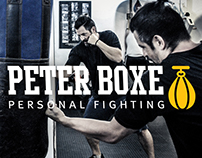 Logo e materiais Peter Boxe Personal Fighting