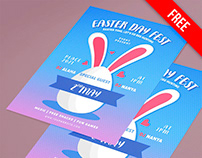 Free Easter Flyer PSD Template