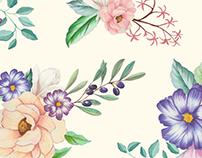 Watercolour Floral Pattern