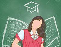 School Pub Year-end Illustration