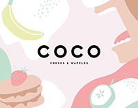 COCO crepes & waffles - Branding and Packaging