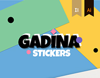 «Gadina». Stickers Pack and Print Image