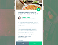 Foodtion - Food Recipe Mobile User Interface Concept.