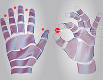 Vector illustration of the artificial hand.