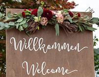 Signpainting für Hochzeit im Boho-Stil