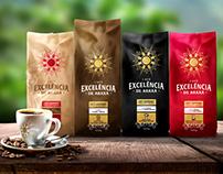 Coffee Excelencia de Araxá - Logo and packaging