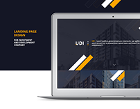 Landing Page for Investment and development company UDI