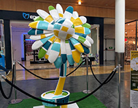 Paint a flower statue contest at Itaroa mall
