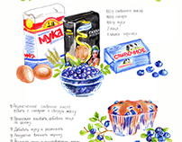 Blueberry muffins. Illustration of recipe.