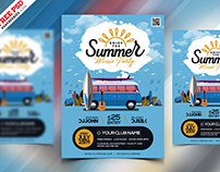 Beautiful Summer Party Flyer PSD