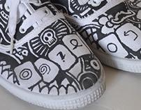 Decoración de zapatillas