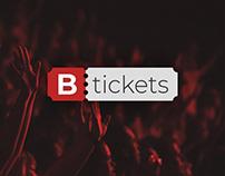 Btickets - Concert Tickets Identity & Web Design