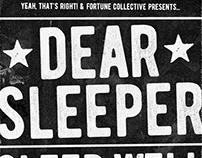 Dear Sleeper Concert Poster