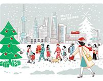FESCO Adecco holiday illustrations
