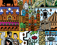 Urban Corner Café / Illustration