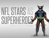 NFL Stars X Super Heros Mash-up