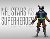 NFL Stars X Super Heros Mash-up